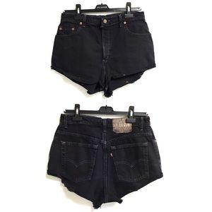 LEVI's Vintage High Rise Denim Shorts Black 30